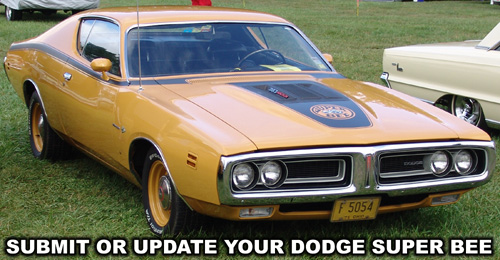 Submit Or Upate Your Dodge Super Bee