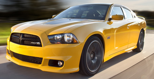 2012 Charger SRT Super Bee in stinger yellow.